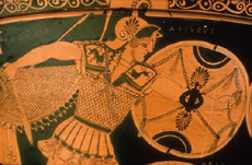 Achilles with Shield in Battle