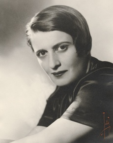 Ayn Rand, photo for the dustjacket of The Fountainhead