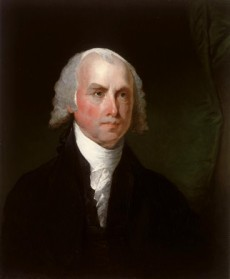 James Madison, by Gilbert Stuart