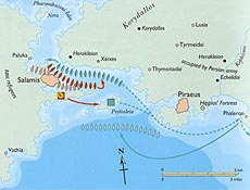 Battle of Salamis, in which the Athenians defeated the navy of Xerxes.