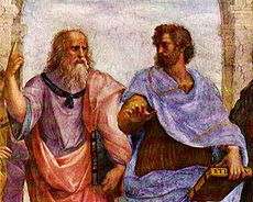 Plato and Aristotle, detail from School of Athens by