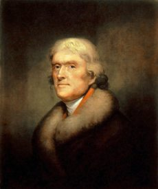 Thomas Jefferson, by Rembrandt Peale