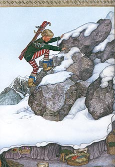 Treva climbing Mount Baldy, from   Trouble with Trolls
