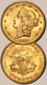 "United States ""Liberty"" Gold Dollar, 1857"