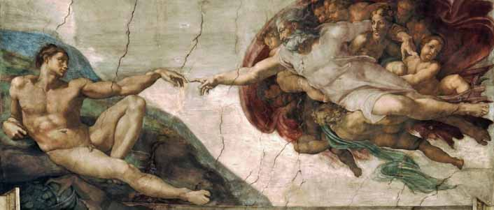 The Creation of Adam, by Michaelangelo