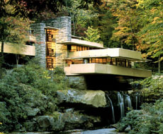 Fallingwater, designed by Frank Lloyd Wright, 1935