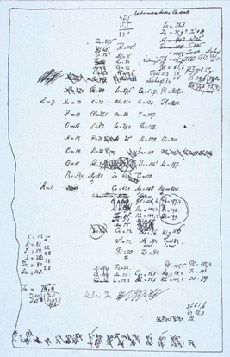 Sketch of Mendeleev's original Periodic Table of the Elements
